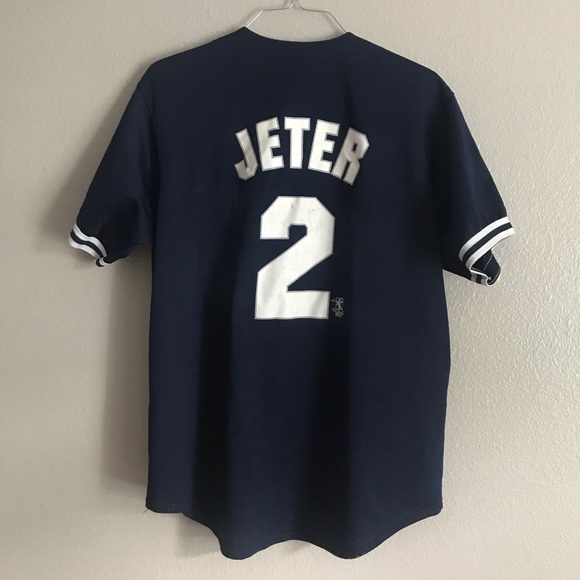 new concept 38c56 d2eff Vintage NY Yankees Derek Jeter Baseball Jersey